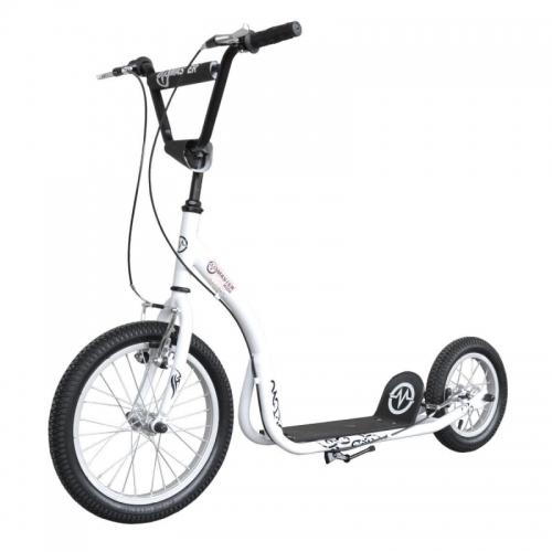 Kovová koloběžka Master - nafukovací kola, čelisťové brzdy, stojan, stavitelná řidítka - VÝPRODEJ