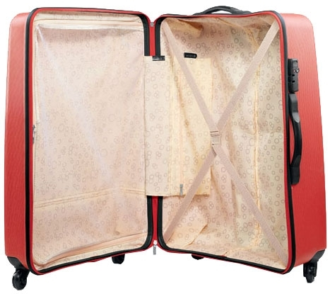 Plastové kufry cestovní na kolečkách, 78 x 55 x 33 cm velký skořepinový kufr - VÝPRODEJ