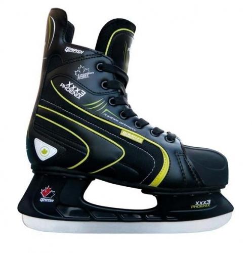 Sportovní brusle na lední hokej Tempish Phoenix black/green, pánské hokejové brusle - VÝPRODEJ