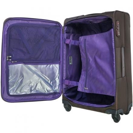 Cestovní textilní kufr na 4 kolečkách Carlton Ascot 78 cm, kvalitní kufry s TSA zamykáním - VÝPRODEJ
