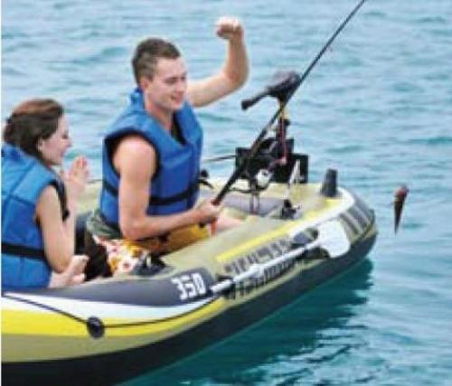 Nafukovací rybářský člun Fishman, levné nafukovací čluny rybářské + 2 pádla, pumpa, sedátka - AKCE