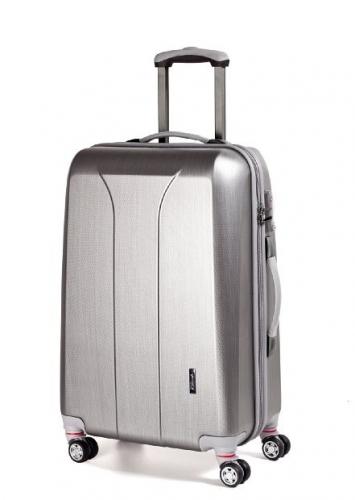 Středně velký cestovní kufr na 4 kolečkách March New Carat brushed M 65 cm - AKCE