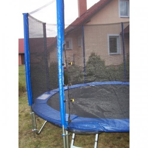 Zahradní trampolína s ochrannou sítí 3 m (305 cm) + schůdky a krycí plachta - AKCE