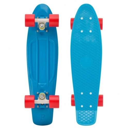 """Penny Original board Cyan red 22"""" modrý s červenými kolečky - AKCE"""