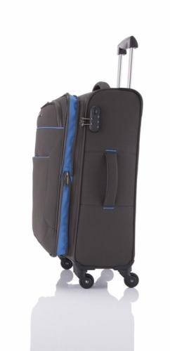 Kufr na 4 kolečkách Travelite Derby 4w M anthracite, střední textilní kufry s kolečky - AKCE