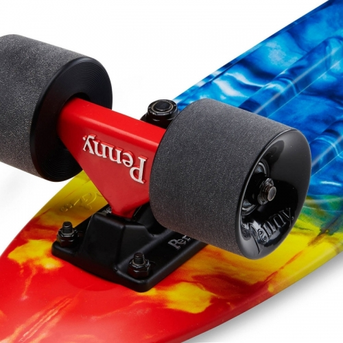 "Longboard Penny Graphics 22"" rainbow bridge"