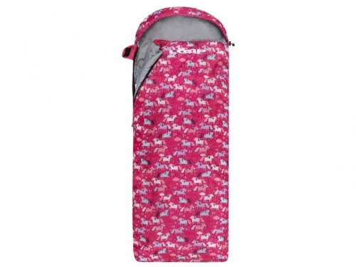 Dívčí dětský dekový spací pytel Loap Dinos růžový