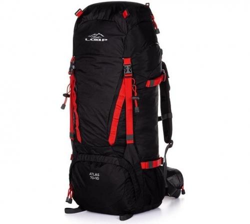 Velký turistický batoh Loap 70+10 L (objem 80 litrů) s pláštěnkou
