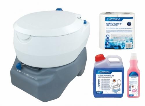 Chemická toaleta Campingaz 20L, chemické mobilní toalety včetně chemie