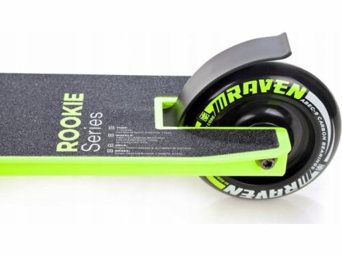 Dětská freestyle koloběžka Raven Evolution Rookie ABEC9 100mm Lemon
