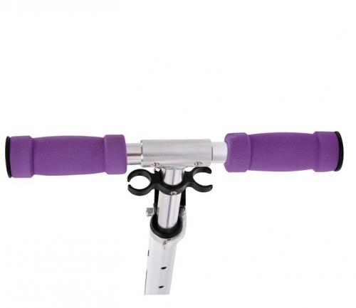 Dámská/dívčí skládací koloběžka Spartan s kolečky 145 mm bílo/fialová  - VÝPRODEJ
