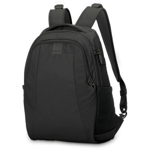Malý městský batoh Pacsafe Metrosafe LS350 Backpack black