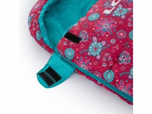 Dívčí dětský dekový spací pytel Loap Fiemme Flowers růžová/modrá