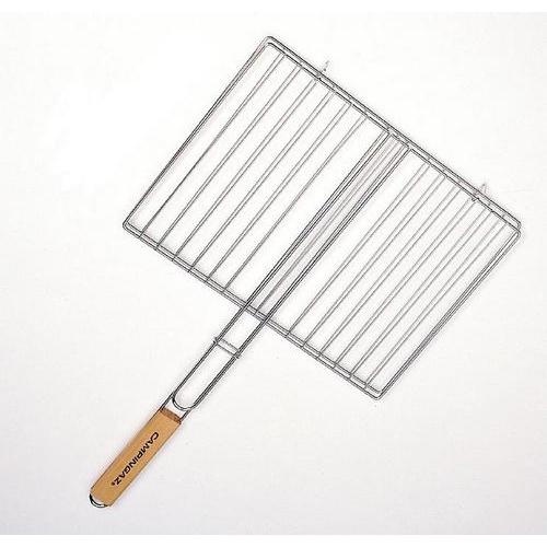 Grilovací rošt 35 x 25 cm s dřevěnou rukojetí
