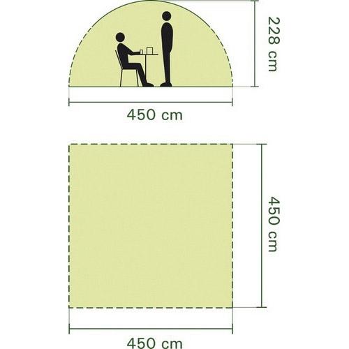 Párty stan Coleman EVENT SHELTER, přístřešky, párty stany 4.5 x 4.5 m