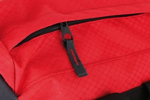 Turistický dvoukomorový batoh Loap 65L s pláštěnkou, zádový systém, černý - AKCE