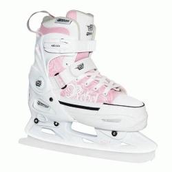 Dívčí lední brusleTempish Rebel Ice pink/růžové juniorské rostoucí zimní brusle
