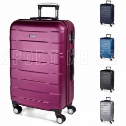 Kvalitní skořepinový kufr March Bumper, středně velké cestovní kufry ABS na kolečkách