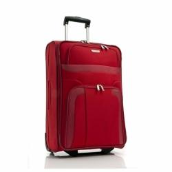 Textilní kufr na kolečkách Travelite Orlando červený, levné cestovní kufry