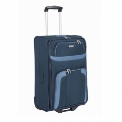 Textilní cestovní kufr s kolečky Travelite Orlando M modrý 63 cm střední velikost