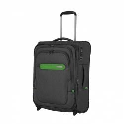 Textilní kufr Travelite Madeira 2w S, palubní 55 cm grey/green