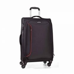 Textilní kufr na 4 kolečkách March Delta L, 78 cm černý