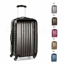 Velký cestovní plastový kufr na 4 kolečkách March Ribbon L brushed 75 cm polykarbonát