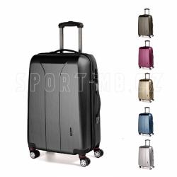 Příruční malý kufr na 4 kolečkách March New Carat brushed S 55 cm