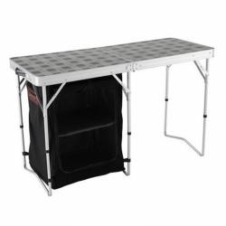 Skládací campingový stůl Coleman 2v1 s úložným prostorem 122 x 48 x 74 cm