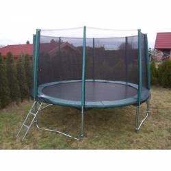 Zahradní trampolína s ochrannou sítí 3 m (305 cm) + schůdky a krycí plachta