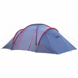 Velký rodinný campingový stan Loap Tora pro 6 osob se třemi oddělenými ložnicemi