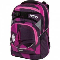 Školní batoh Nitro Superhero fragmentr purple