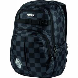 Batoh Nitro Chace Checker, černý kostičkový šachovnice