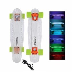 """Svítící skateboard / penny board Tempish Buffy I-Flash 22"""" s LED osvětlením a dobíjením"""