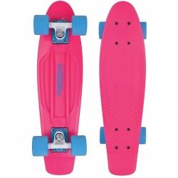 """Plastový skateboard pro děti, dětský penny board Tempish Buffy 22,5"""" pink / růžový"""