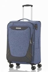 Kufr na čtyřech kolečkách Travelite Mare M 4w Blue rozšiřitelný 70/80 l