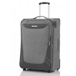 Velký cestovní kufr na 2 kolečkách Travelite Mare L grey/šedý s možností zvětšení až 130 l