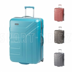 Cestovní skořepinové kufry na 2 kolečkách Travelite 73 cm, odolný plastový kufr s TSA zámkem