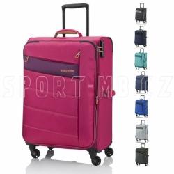 Střední textilní extra lehký kufr na 4 kolečkách Travelite Kite 64 cm s rozšířením objemu