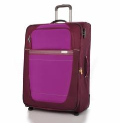 Středně velký cestovní kufr na 2 kolečkách Travelite Meteor 63 cm vínový