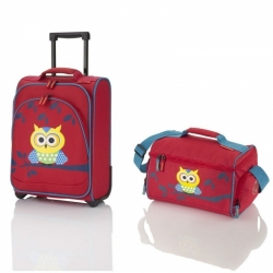 Dětský cestovní kufr a taška Travelite Youngster Owl, sada kufru a tašky pro děti