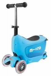 Odrážedlo a koloběžka Micro Mini2go Deluxe - modrá