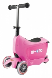 Odrážedlo a koloběžka Micro Mini2go Deluxe - růžová