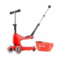 Odrážedlo a koloběžka Micro Mini2go Deluxe Plus - červená
