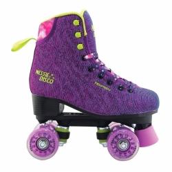Dívčí a dámské trekové a taneční čtyřkolečkové brusle Tempish Nessie disco fialové