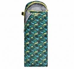 Dětský dekový spací pytel Loap Dinos zelený / žlutý
