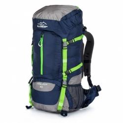 Turistický batoh Loap Evolution 60 L modrá / zelená s pláštěnkou