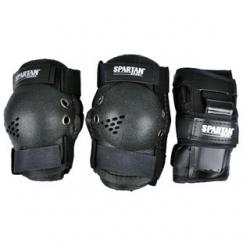 Sada chráničů na kolečkové brusle Spartan, zápěstí, kolena a lokty