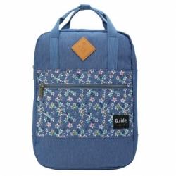 Městský dámský malý batoh G.RIDE Diane blue/flower 8 L