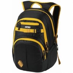 Batoh Nitro Chase golden black, městský, studentský, skate